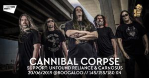CANNIBAL CORPSE, Carnosus, Unfound Reliance - Zagreb Boogaloo 26.06.2019.