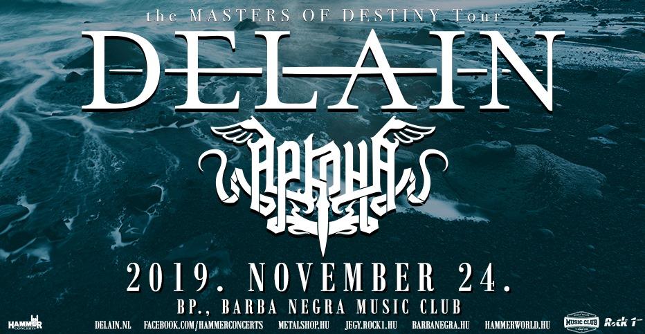 DELAIN, Arkona, Barba Negra, Budapest,  24.11.2020.