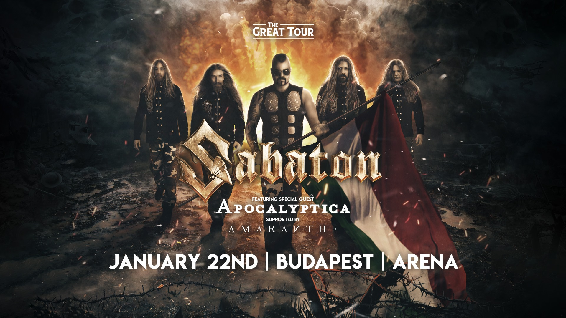 SABATON, Arena, Budapest, 22.01.2020.