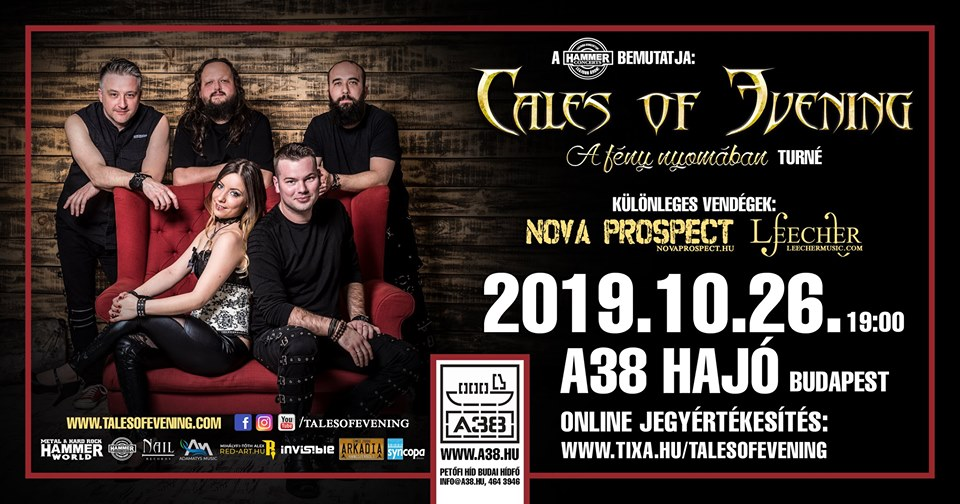 TALES OF EVENING, Nova Prospect, Leecher, A38 Hajó, Budapest, 26.10.2019.