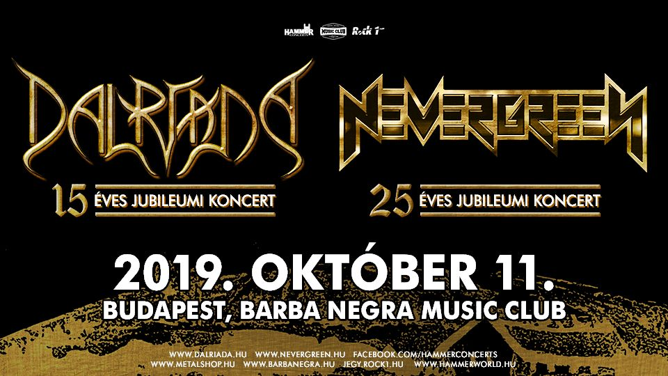 DALRIADA, NEVERGREEN, Barba Negra, Budapest, 11.10.2019.