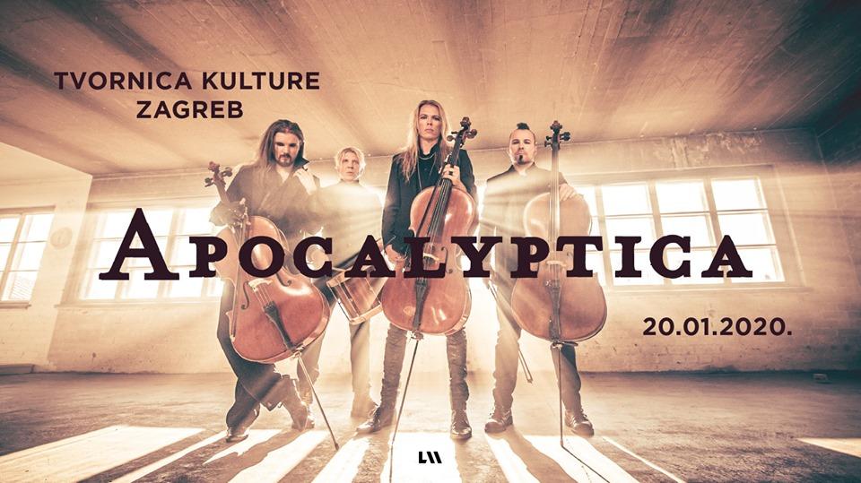 APOCALYPTICA, Tvornica kulture, Zagreb, 20.01.2020.