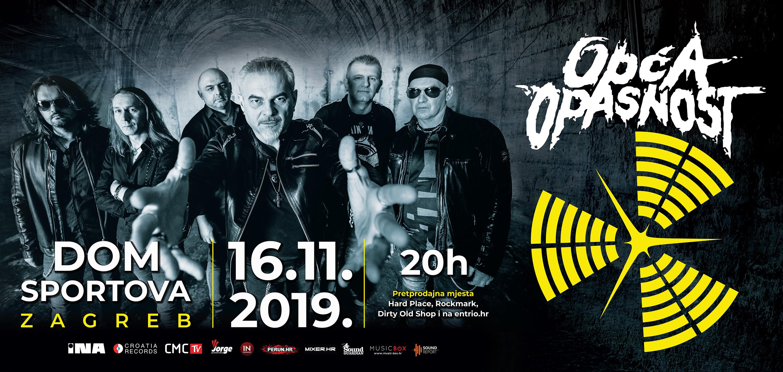 OPĆA OPASNOST, Dom sportova, Zagreb, 16.11.2019.