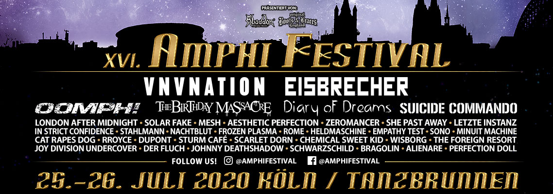 AMPHI FESTIVAL, Cologne, Germany, 25.-26.07.2020.
