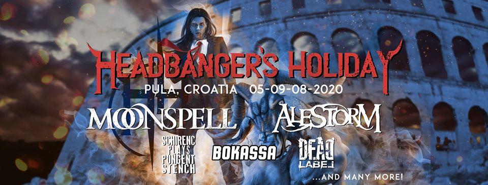 HEADBANGER'S HOLIDAY, Vallelunga, Pula, 5.-9.08.2020.